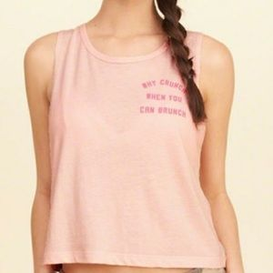 Hollister NWT Pink Workout Tank with CUT OUT Back